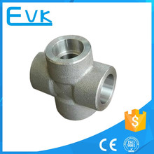 3000 LBS Carbon Steel Forged Pipe Fitting Socket Weld Cross