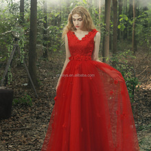 K1681A Quality ball gowns wedding dress 2017 real photos High alibaba red wedding dress