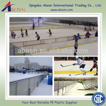 High Density Polyethylene PE board /ice rink barrier for sports arena system