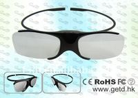 Clip on active digital cinema 3d glasses
