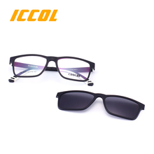 2017 new fashion men wholesale dropship yellow uv400 polarized ultem magnetic clip on sunglasses
