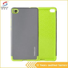 Wholesale bulk cheap double color in one phone case for huawei ascend g730