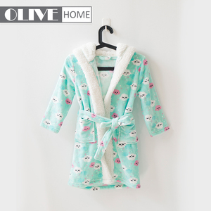 Direct factory price cotton/waffle organic children's bathrobe pyjamas kids for hotel/home gift