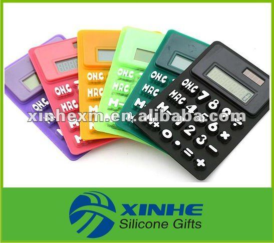 Promotion Silicone Rubber Small Calculator with 8 Digits
