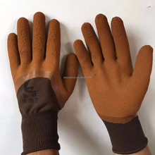latex rubber coated safety work gloves hand gloves with CE