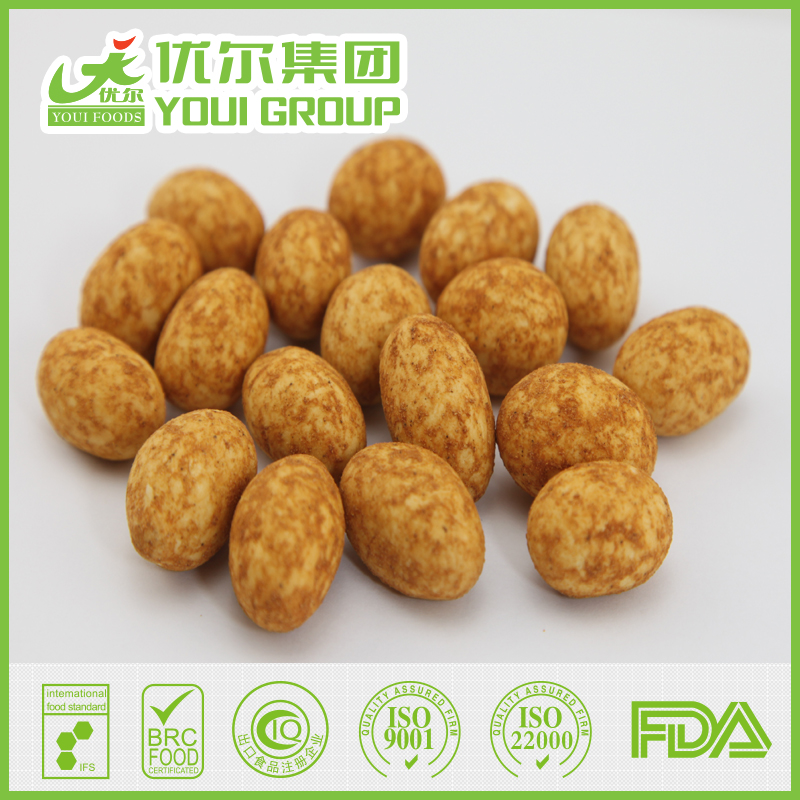 BRC Certified Coated Peanuts Dry Roasted Cajun Peanuts