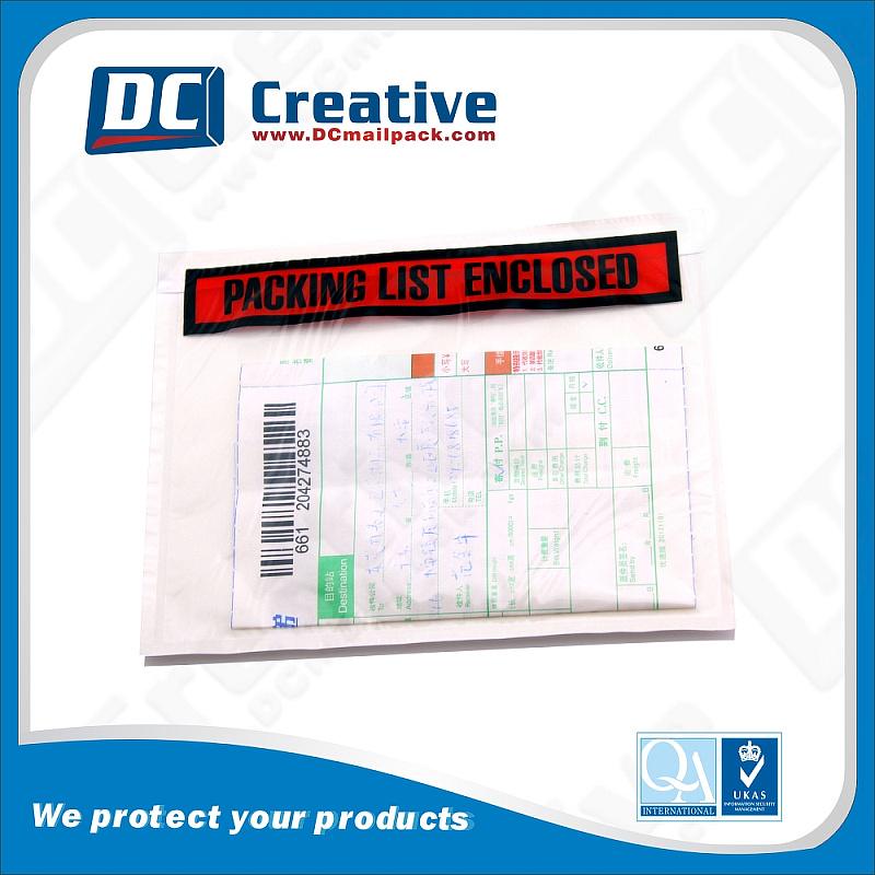 Back adhesive Envelope for mail commercial invoice