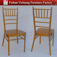 High End Restaurant Furniture Sharp Gold Tiffany Dining Chair Italian Design YC-A21-55