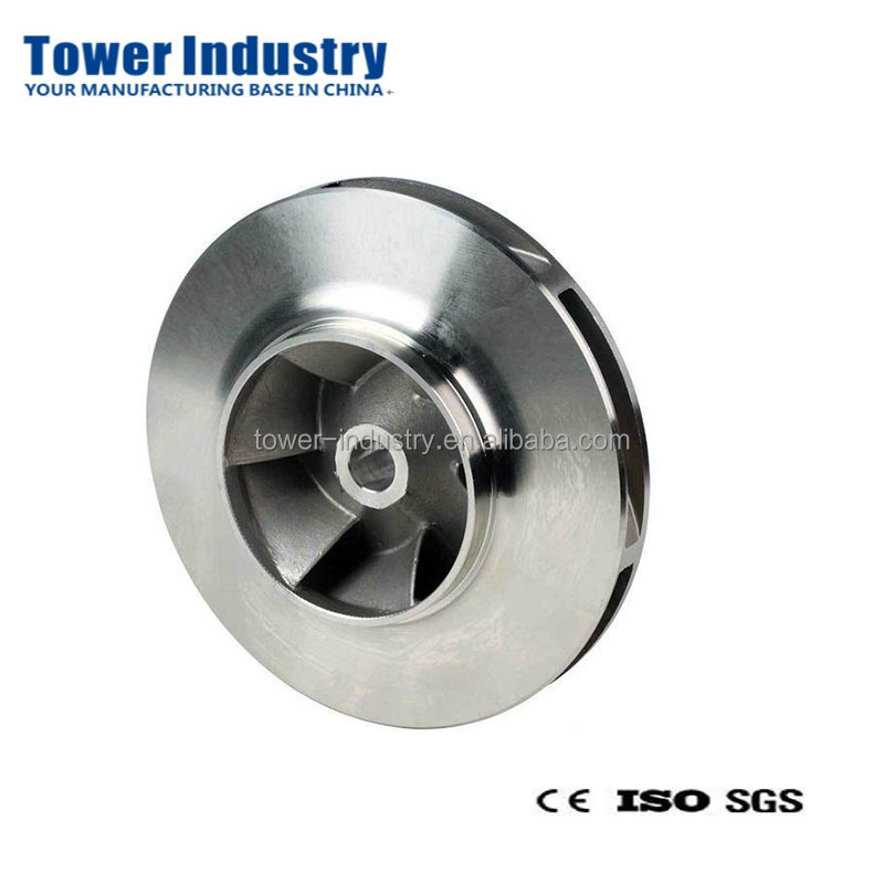 Good Quality Sand Casting Water Pump Impeller,Custom 304 / 316 Stainless Steel Water Pump Impeller Made by Lost Wax Casting
