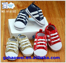 Casual style canvas soft sole baby shoes