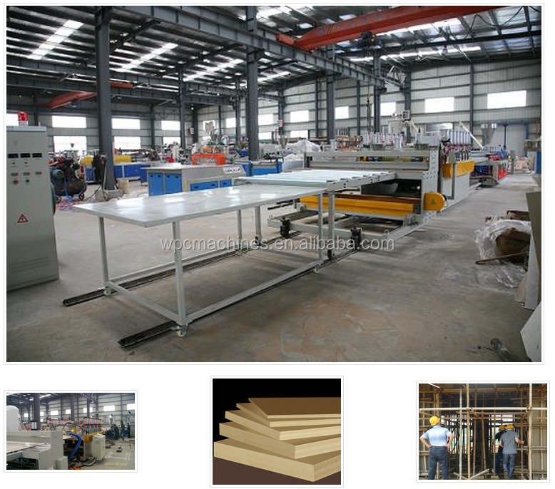 PVC wood Building Template Board 1220mm Extrusion Machine