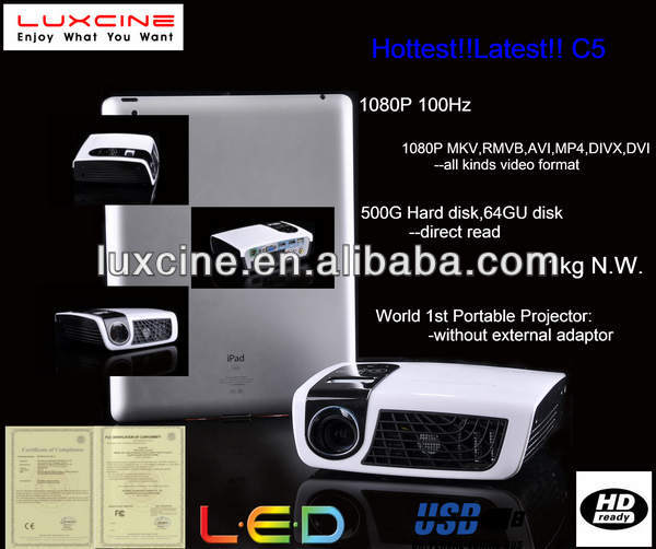 NEWEST!!! C5 1080p portable high resolution led projector