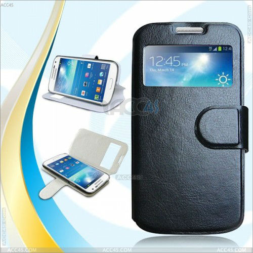 HOT SELL!! Smart View Folio Flip Cover Case With Stand for Samsung Galaxy SIV S4 Mini i9190 P-SAMI9190CASE001