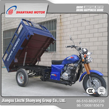 Made in China 200cc Engine Blue Crago Motor Tricycle Cheap Sale China Supplier Battery Powered Rickshaw Tricycle