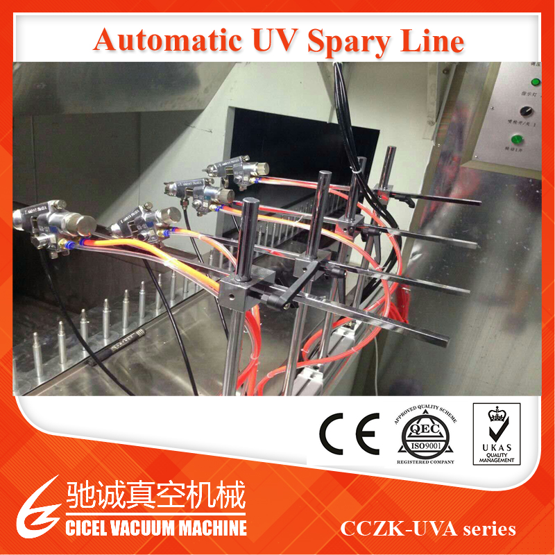 Computerised Robot UV Lacquer Automatic Spray Painting Line Vacuum Coating Plant