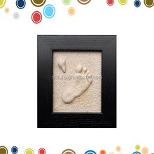 wall art decor,baby footprint kit,foot impression frame
