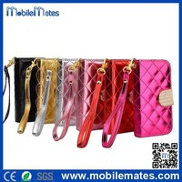 With Strap Card Slots Wallet Leather Case for Samsung Galaxy S5 Mini, for Samsung Compatible Branded Diamond Flip Cover