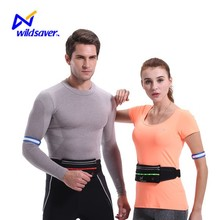 2016 led sport running jogging elastic water resistant waist bag for ipad