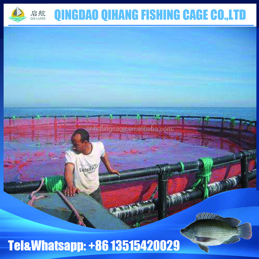 Nylon HDPE Fish Net Cage Floating Cage for Fish