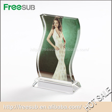 Hot sell wholesale L120*H200*W50mm water ripple cup blank sublimation 3d crystal modern picture frames