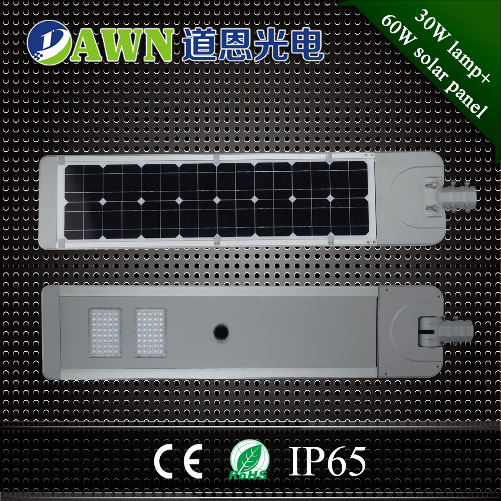 30W smart China best performance integrated all in one solar led street lights lamps luminaria solar 30w