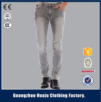 fashion grey tight skinny long men denim jeans made in china for sale