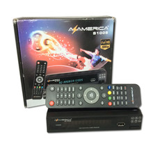 dvb-s2 Azamerica s1005 nagra3 tv receiver with free iks+sks iptv south america decoder