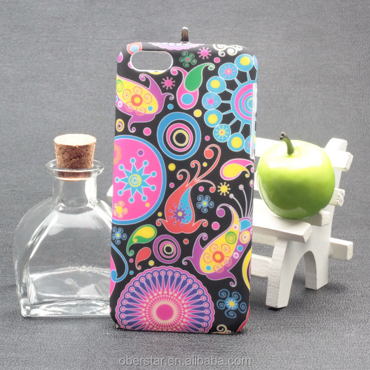 Color Printing PC Mobile Phone Case Hard Cover For Apple iPhone 5C