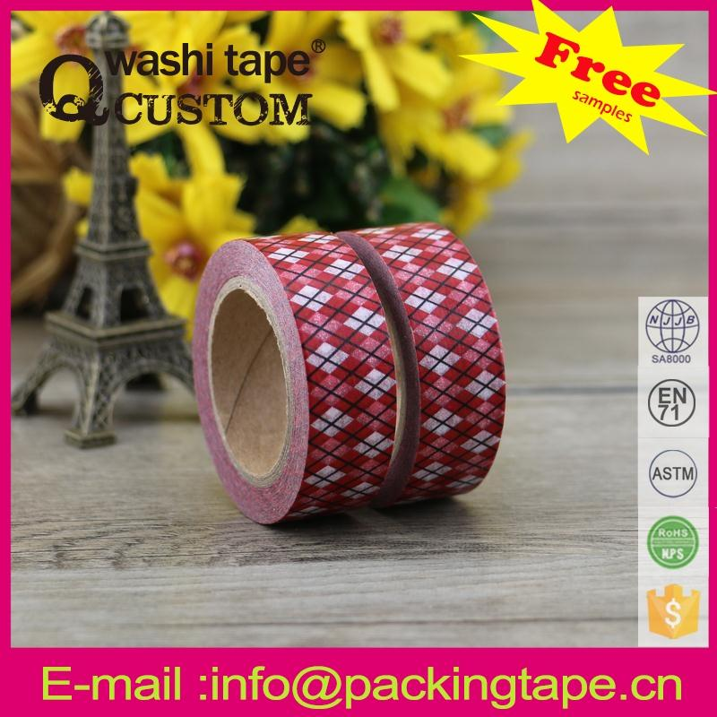 Qcustom colorful washi paper tape <strong>rolls</strong> from factory