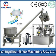 High speed new ce approved pet food milk powder packaging machine with auger filler and elevator