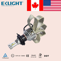 Emark TUV ISO CE approved EKLIGHT Smart canbus H4 H7 H11 9006 led auto headlight