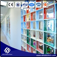 High Quality colors glass brick for the bar