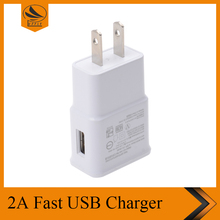 Portable Travel charger USB wall charger US standard fast USB charger for samsung S6/S6 edge S7/S7 edge 5V 2A power adapter