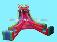 inflatable outdoor castle house/moonwalk water slide children bouncer outdoor games
