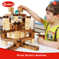 2016 new design 60pcs WOOD MARBLES BUILDING BLOCK