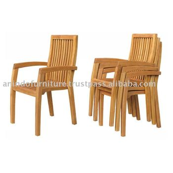 Teak Outdoor Furniture - Casagrande Stacking Chair