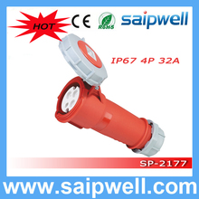 SAIP CEE/IEC IP67 4-pin industrial power plug FOR reefer container Use IP67/32A/4P/3H