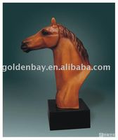 Resin horse carving Resin animal bust sculpture