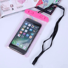 Custom cell phone cases PVC Mobile Phone Waterproof Bag With String