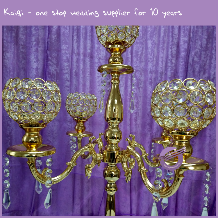 Zt wholesale tall wedding centerpieces gold arms