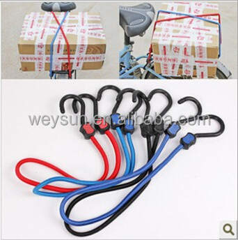 bike Rubber bungee cord with two hooks nylon luggage elastic rope