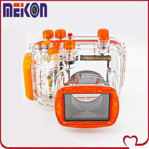 Meikon ipx8 40m/130ft Waterproof Underwater Housing Protective Case for Nikon P7000,ideal for underwater photography shooting