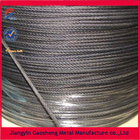 Winch Rope And PVC Zinc Coated Galvanized Steel Wire Rope Strand