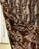 Top level Cheapest jacquard curtain with attached valance