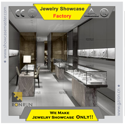 Custom made stainless steel jewelry store display showcase jewelry shop names