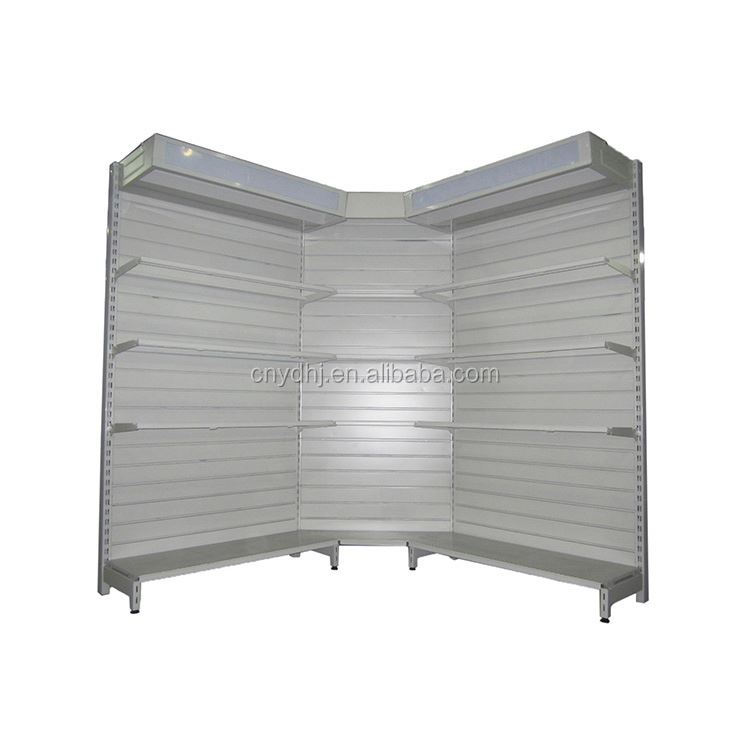 Factory supplier shop fittings high quality manufacturer sale slatwall display shelf