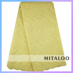 Mitaloo MSL0345 Wholesale Price Plain Lace African Cotton Dry Lace Thick Cotton Lace