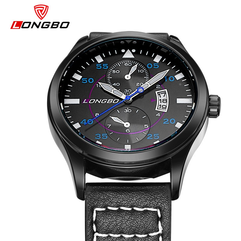 LongBo Top 100 watches brands factory mens designer watches wrist italian leather watch straps