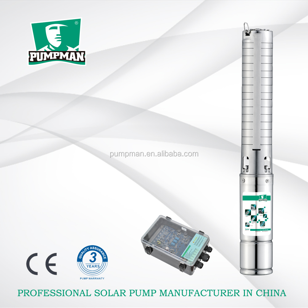 4TSSC 2015 PUMPMAN new 4'' borehole dc centrifugal solar power 316 stainless steel dc solar submersible pump price in india