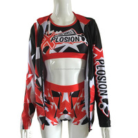 Custom design sublimation cheer practice wear costume for kids girls